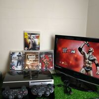 Sony Playstation 3, 2 Official controllers, 4 Games & Charging Lead (40GB)