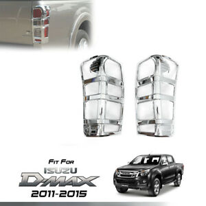 TAIL LIGHT REAR LAMP CHROME COVER TRIM FIT FOR ISUZU D-MAX DMAX 12 13 14 15