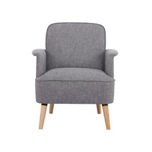Fauteuil LIZZO gris polyester 72cm