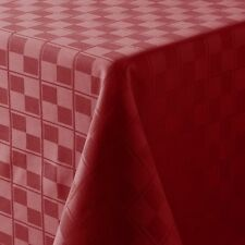 Food Network Microfiber Tablecloth Oblong 60 x 84 Red Burgundy Maroon Checkererd