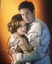 David Duchovny & Gillian Anderson Signed Autographed 8x10 Color Photo X Files