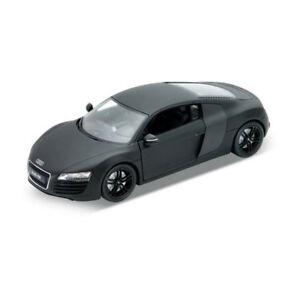 Welly 22493 Audi R8 V10 Matte Black Scale 1:24 Model Car New! °