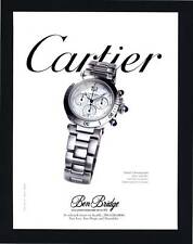 PRINT AD 1998 CARTIER PASHA CHRONOGRAPH 38MM SOLID STEEL