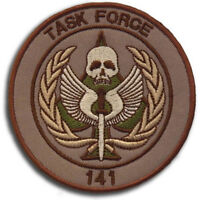 CALL OF DUTY TASK FORCE 141 MORALE HOOK PATCH - VEL-KR DESERT EMBROIDERED BADGE