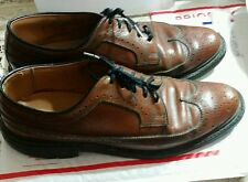 Wingtips sz. 8 D Pebble grain leather Oxford saddle brown shoes business career
