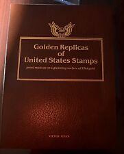 81 Golden Replicas of US Stamps from Postal Commemorative Society 22k Gold FDC