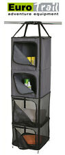 EUROTRAIL Hanging Cupboard Unit for Tent 4 Zipped Storage Compartments FREE P&P