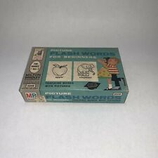 Vintage Milton Bradley Picture Flash Words for Beginners John Wanamaker Sticker