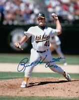Rick Honeycutt Signed 8X10 Photo Autograph Oakland Athletics A's Auto w/COA