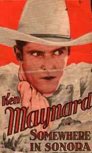 Somewhere in Sonora Original Movie Herald from the 1927 Movie