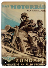 Blechschild 20x30 Zündapp Motorrad Bike historisch Oldtimer Soldat Metall Schild