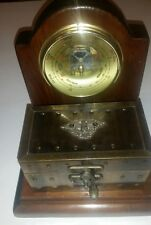 Amazing Rare Shortland Barometer With Metal Treasure Chest