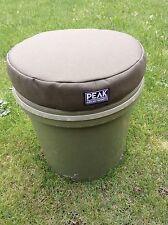 Peak angling product green carp fishing bucket cushion