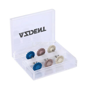 6pcs/Kit AZDENT Dental Composite Polishing Polisher Diamond System RA 14mm Wheel