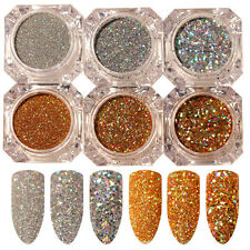 6pcs/set Nail Art Glitter Powder Dust For UV GEL Acrylic Powder Decoration Tips