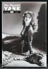 Rita Hayworth B&W Pinup Girl - Fridge / Locker Magnet. GGA