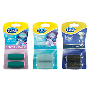 Scholl Velvet Smooth Pedi Roller Head 2 Pack Refills - all types available