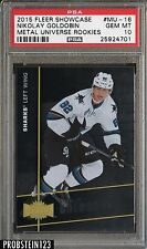 2015 Fleer Showcase Metal Universe Nikolay Goldobin Sharks RC Rookie PSA 10