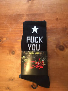 Fxck You Black Skateboarding Socks Unisex New York