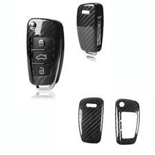 1x Real Carbon Fiber Entry SmartKey FOB Shell Case For Audi A3 A4 TT R8 Q3 Q5