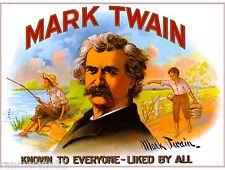 Mark Twain Vintage Cigar Tobacco Box Crate Inner Label Art 7x10 inch Print