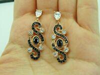 Turkish Handmade Jewelry 925 Sterling Silver Onyx Stone Women Earrings