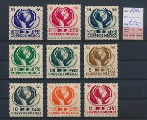 LO44955 Mexico 1945 airmail stamps fine lot MNH cv 50 EUR