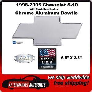 1998-2005 Chevrolet S-10 Chrome Billet Aluminum Bowtie Grille Emblem AMI 96041C