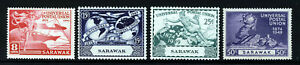 SARAWAK King George VI 1949 U.P.U 75th.Anniversary Set SG 167 to SG 170 MINT