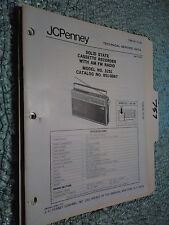 JC Penny JCP 3251 851-0067 service manual original repair book radio boombox