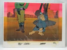 BraveStarr Animation Cel & Background Outlaw Scuzz Tex Hex Character #32