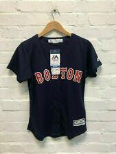 Majestic Boston Red Sox MLB Women's Alternate Jersey - Pedroia 15 - Navy - New