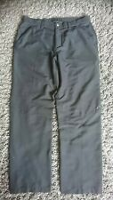 Gents Black Oakley Trousers W36 L33 soft Touch comfort Fabric