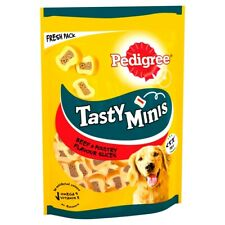 Pedigree Tasty Minis Dog Treats Chewy Slices with Beef 155g