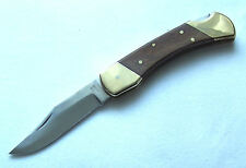 "Outdoor Klappmesser ""Der Klassiker"" Holzgriff Messing Taschenmesser Pocket Knife"