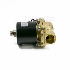 "110V Brass 1/2"" Electric Solenoid Valve Water Air Fuels Gas Normal Closed N/C"