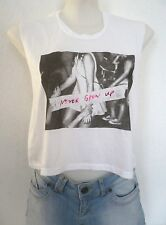 Top AMERICAN EAGLE OUTFITTERS Taille S M débardeur croped blanc Femme fille
