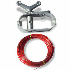 Above Ground Replacement Cable (115') ft & Winch For Swimming Pool Winter Cover