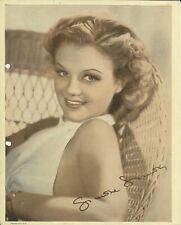 Simone Simon 1938 Vintage Color Paperstock 8x10 Promo Photo