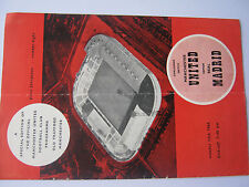Manchester United  v Real Madrid  Oct 13th 1960 original programme with 6 sigs
