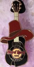 Hard Rock Cafe LONDON 2010 GUY FAWKES Hat GUITAR PIN LE 400 - HRC Catalog #57633