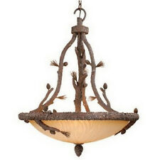 Rustic Pine Tree 6 Light Chandelier/Pendant