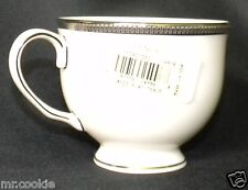 NEW LENOX Tuxedo Platinum Footed Cup Presidential Coffee Teacup Lot 2 110901050