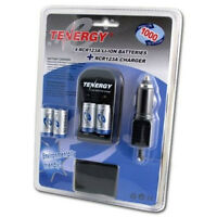 Tenergy 4 RCR123A CR123A Rechargeable Batteries with Chargers