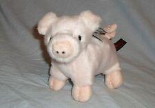 DOWMAN 18cm PIG SOFT TOUCH TOYS - CUDDLY PLUSH CUTE ANIMAL - NEW