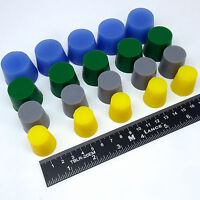 20pc XL Tapered Rubber Stopper Plug Kit High Temp Silicone Powder Coat Coating