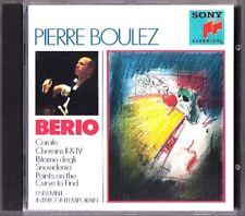 Pierre Boulez: Berio CORALLO Chemins II IV ritorno points on the curve to find cd