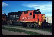 Original Slide Mexico S-BC Sonora-Baja California GP40-2 2314 In 1988