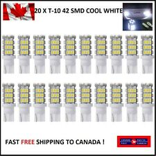 20 X T10/921/194 Car LED COOL White 42SMD Bulbs W5W RV Trailer Backup Reverse