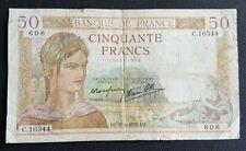 FRANCE - FRANCIA - FRENCH NOTE - BILLET DE 50 FRANCS CERES 15/6/1939.